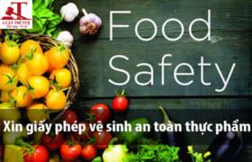 Thủ tục xin giấy phép vệ sinh an toàn thực phẩm