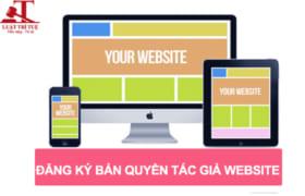Thủ tục đăng ký bản quyền website